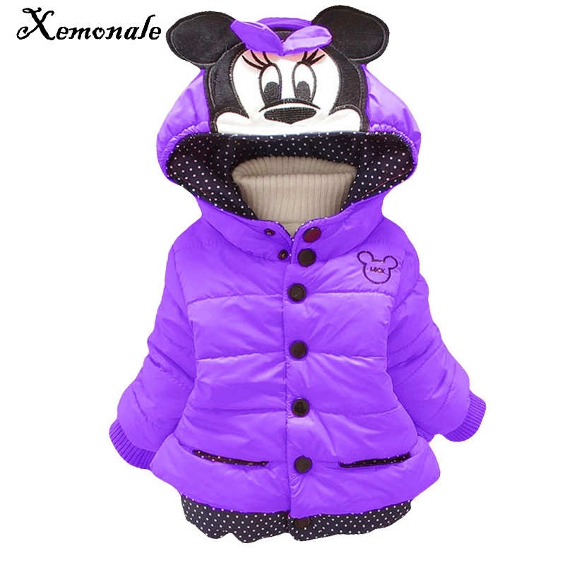 Xemonale Baby Girls Coat Jacket Children Outerwear Cotton Winter Hooded Coats Winter Jacket Kids Coat Children Winter Clothing