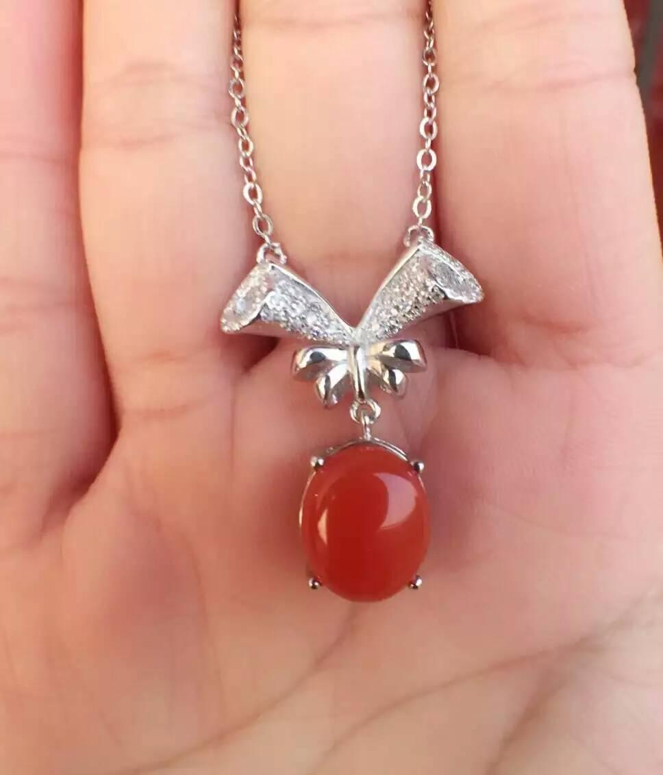 Collier en agate rouge naturelle collier pendentif en pierres précieuses naturelles S925 argent mode luxueux branches d'arbres lourds bijoux pour femmes