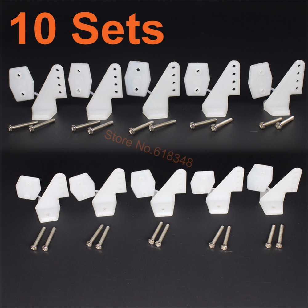 10Sets Plastic Pin Horns 4 hole With Screws L17.5xW13xH26 RC Airplane Parts Electric Planes Foam Aeromodelling Replacement и