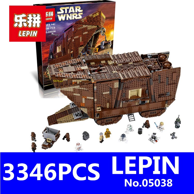 LEPIN 05038 3346pcs Star Juguete Para Construir Bricks Wars Sandcrawler Building Blocks Sets Children Toys Compatible with 75059 lepin 02012 city deepwater exploration vessel 60095 building blocks policeman toys children compatible with lego gift kid sets