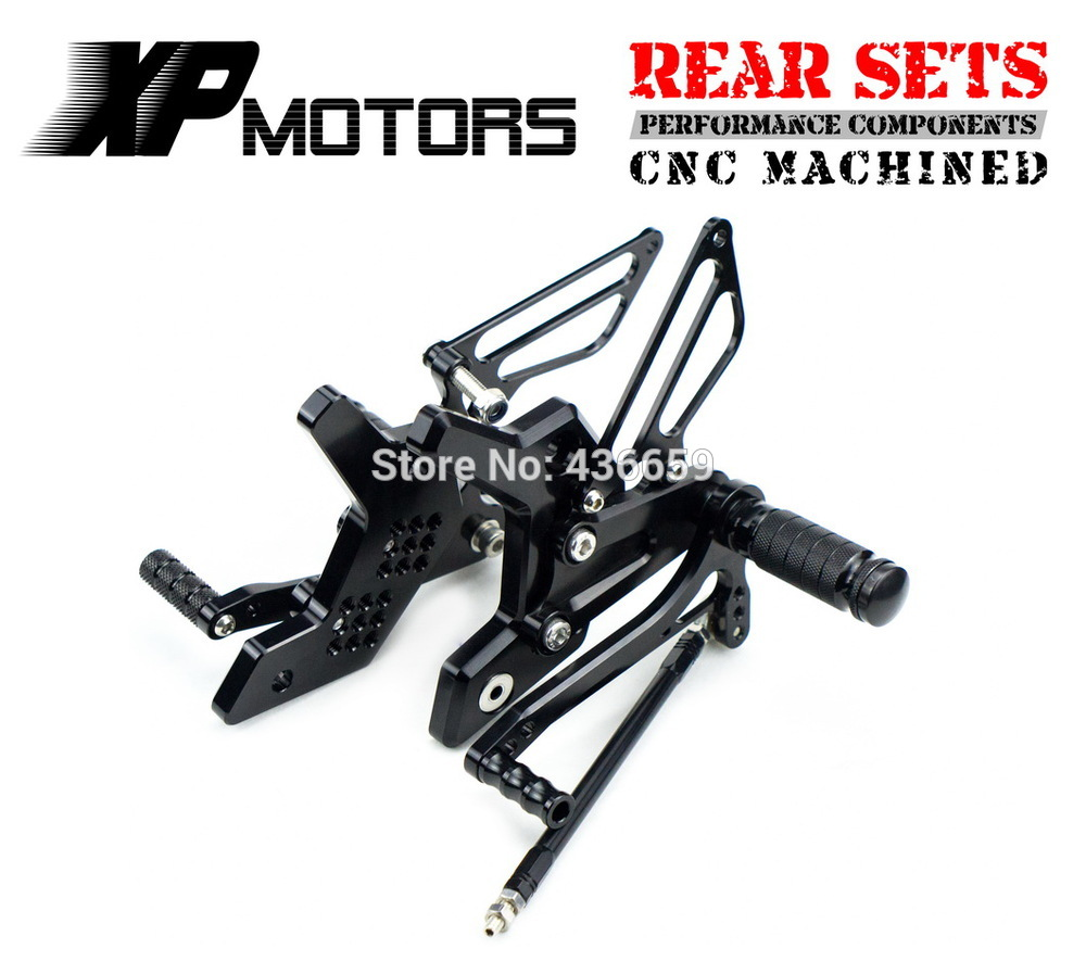 Black Race CNC Foot Control Kit Adjustable Foot Pegs Rear Sets For Kawasaki Z750 2004 2006 Z1000 2003 2006