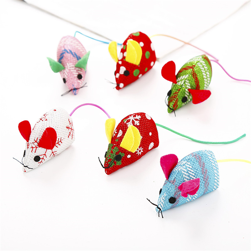 Funny Cat Toy Christmas Mouse Interactive Cats Teaser Toys Playing Training Toys Catnip For Cats Kitten Mice Rat Product