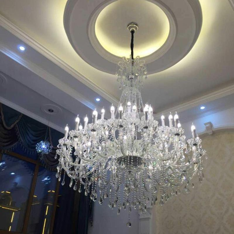 Large 30-light Church Chandelier led Candelabro crystal pendant hotel - Indoor Lighting - Photo 1
