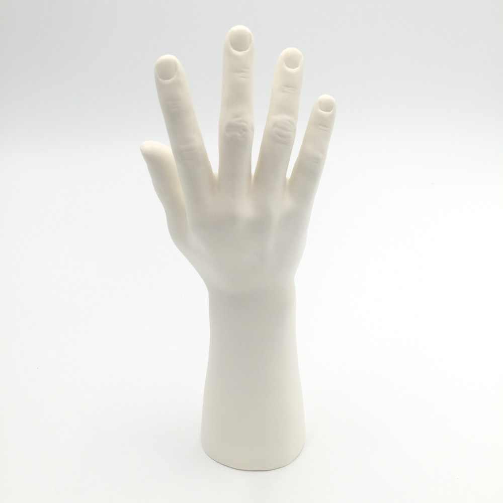1Pc ブラックホワイト黄色肌色マネキン男手マネキン指ジュエリー時計リングブレスレット手袋スタンド 3 色
