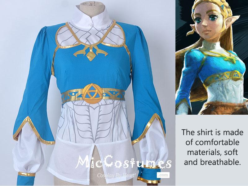 Zelda Botw Cosplay The Legend Of Zelda Breath Of The Wild Princess Zelda Cosplay Costume