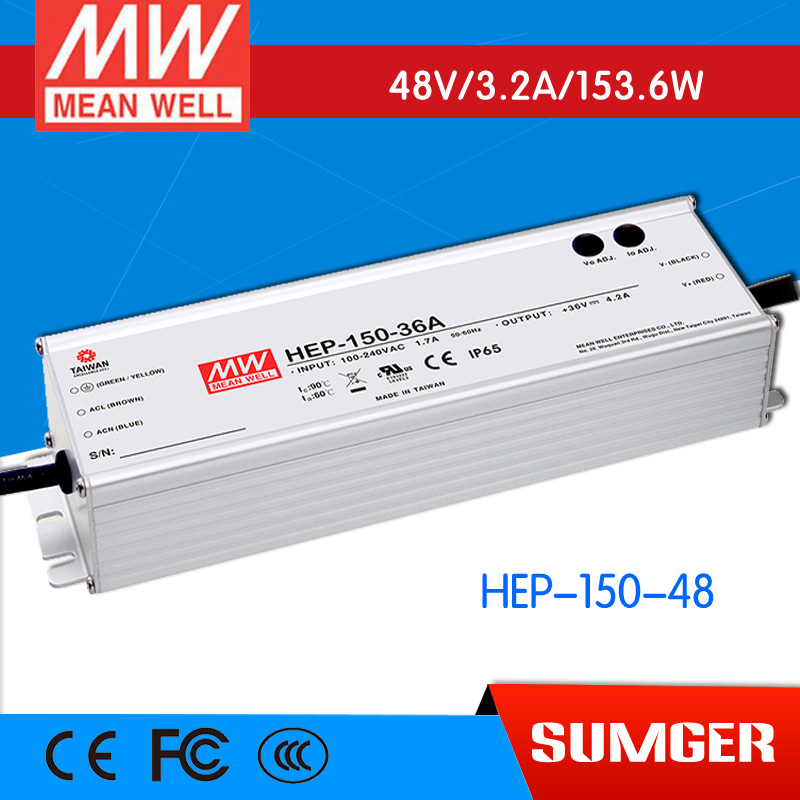 1MEAN WELL original HEP-150-48 48V 3.2A meanwell HEP-150 48V 153.6W Single Output Switching Power Supply цены онлайн
