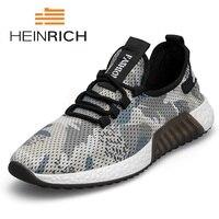 HEINRICH/Новинка; дышащая мужская повседневная обувь; мужские модные кроссовки; Сверхлегкая мужская обувь на плоской подошве; повседневная муж