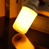 LED Flame Bulb E27 SMD2835 Flickering Effect Fire Light Bulbs Flameless Simulated Creative Lights Yellow Red