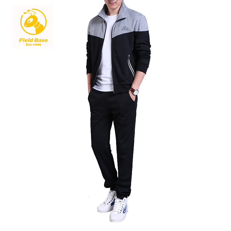 Field Base Men s Brand Tracksuits Sets Jacket Pants Sporting Suit Fitness Clothing For Young 2