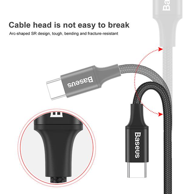 USB kábel Type-C s LED osvetlením