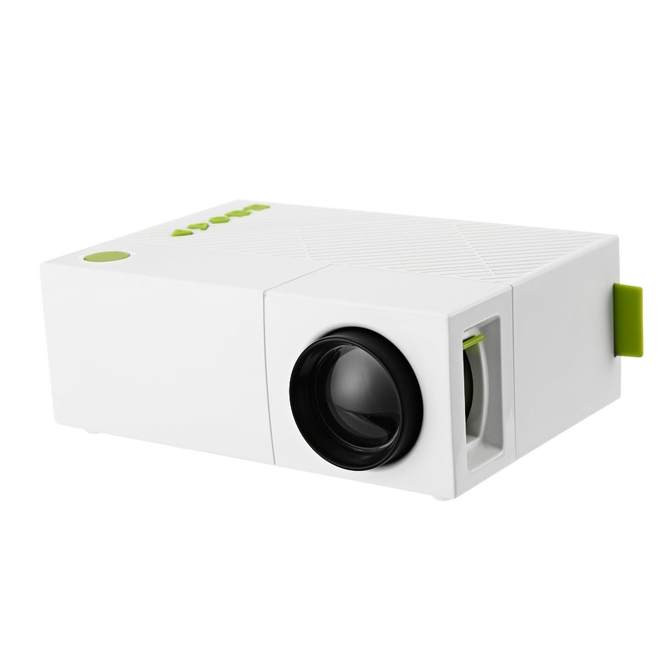 Fuleadture Portable Led Projector 1080p Hd Multimedia: YG310 Portable LCD Projector HD 400 600 LM 1080P AV USB
