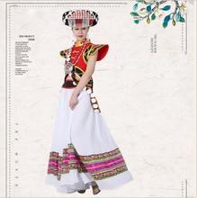 China ethnic minority LiSu Race Lady Outfit Standard Traditional Handicraft Myanmar Tibet Yunnan Lisu Nationality Dance Costume