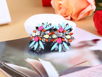 New charms SBY0160 Fashion Hot sale Charms stud double pearl fashion big earrings charms for women