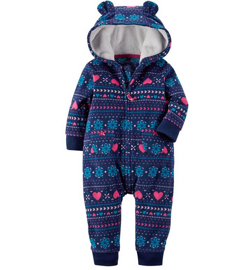 6124905e659c casaco infantil bebes snow clothes Winter Rompers hoodies roupa kids  clothing one piece Baby Girls boys love pink jogging suits-in Clothing Sets  from Mother ...