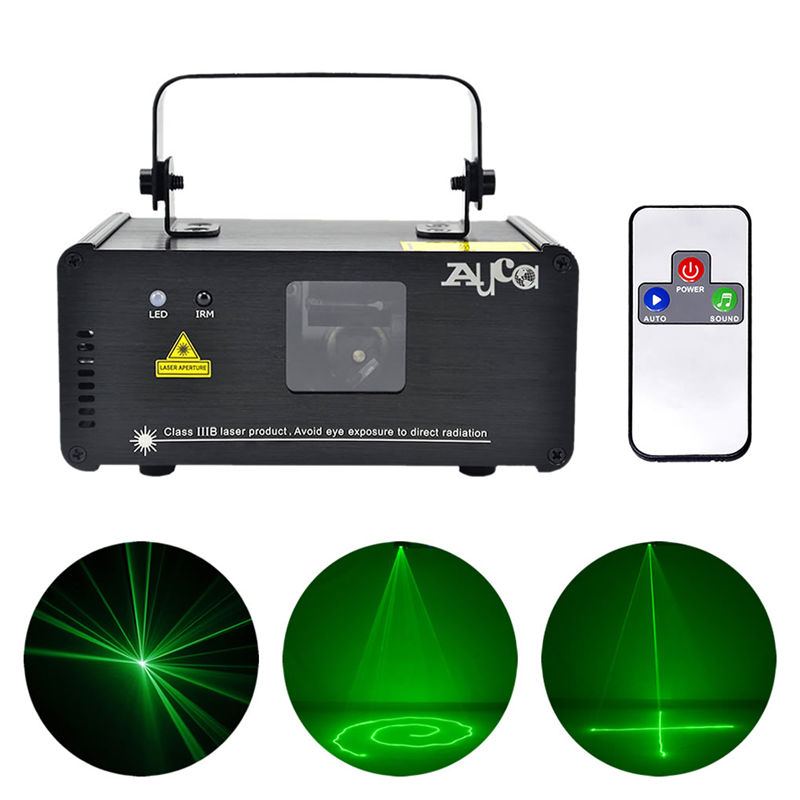 AUCD IR Remote PRO Mini Portable 8 CH DMX 512 Green Laser Scanner Lights DJ Disco Party Projector Show LED Stage Lighting DM-G50 chauvet dj ch 31 portable trussing
