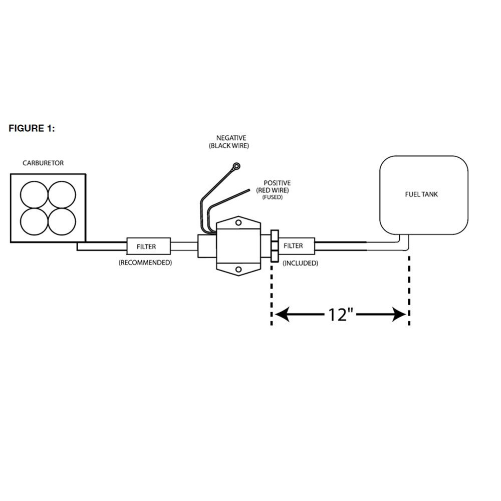 12V Electric Fuel Pump Gas Diesel Inline Low Pressure