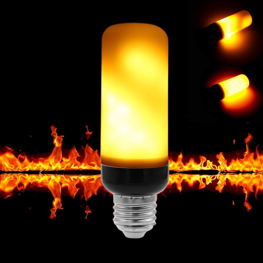 ETONTECK E27 E26 E12 LED Flamme Wirkung Feuer Glühbirnen 5 Watt AC85-265V Flackern Emulation Dekorative Lampe SMD2835 LED flamme licht