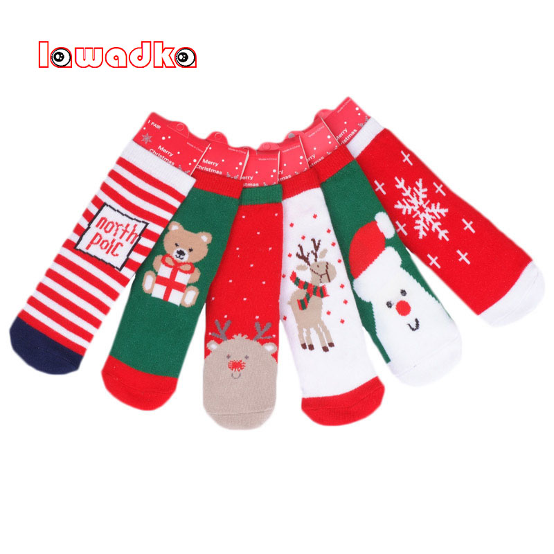 Cartoon Baby Short Socks Autumn Winter Cotton Socks for Girls Fashion Children Girl Clothes Christmas Socks Baby Boy 5 Years
