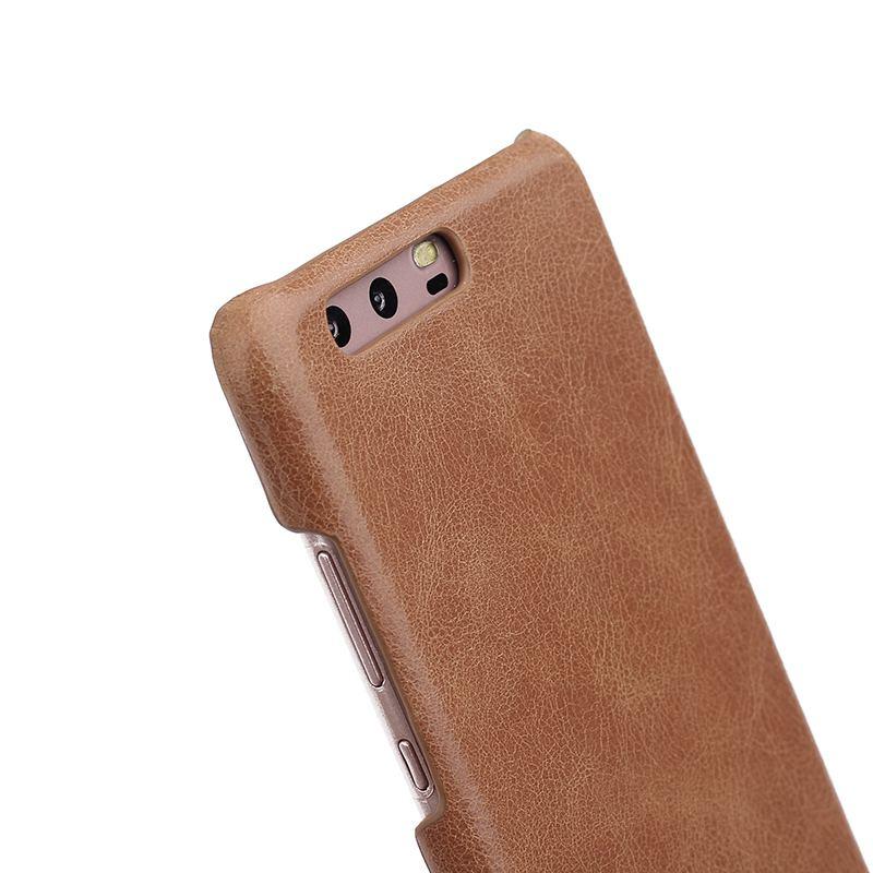 Äkta läderfodral till Huawei P10 Plus fodral Frostad bakomslagskydd - Reservdelar och tillbehör för mobiltelefoner - Foto 4