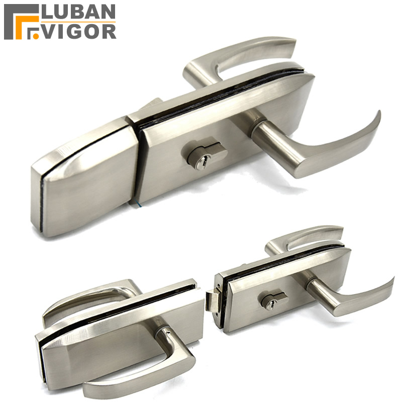 Double glass door handle lock, glass holding hand lock,Drilling on the glass/thickness 10-12mm,office partition parts hardwareDouble glass door handle lock, glass holding hand lock,Drilling on the glass/thickness 10-12mm,office partition parts hardware