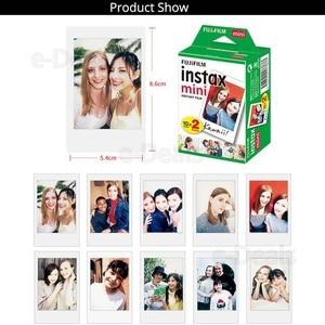 Image 2 - Orijinal Fuji Fujifilm Instax Mini 9 Film Beyaz Kenar Fotoğraf Kağıtları Mini 9 8 7 s 90 25 55 payı SP 2 Anlık Kamera 50 yaprak