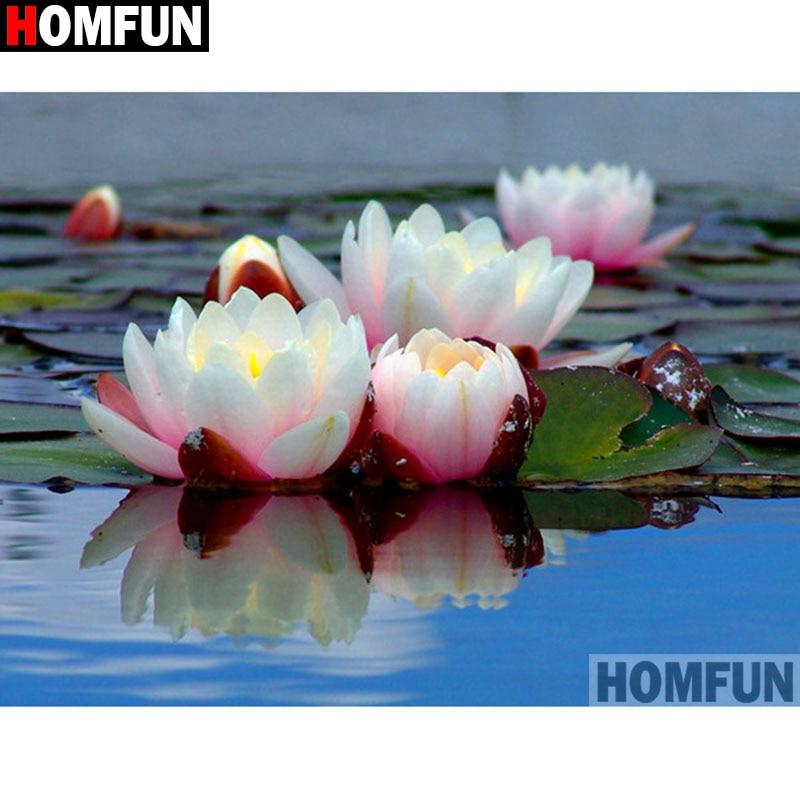 Homfunフル平方/ラウンドドリル5D diyのダイヤモンド塗装