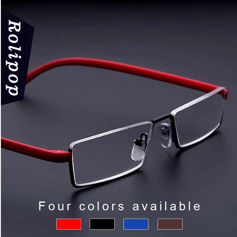 TR90 Womens Half Frame Reading Glasses For Men Readers Glasses Unbreakable  Metal Vision Magnifying Glasses