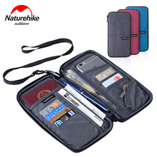 ФОТО naturehike unisex waterproof multi function outdoor sports travel wallet bag for cash passport cards travel hiking purse