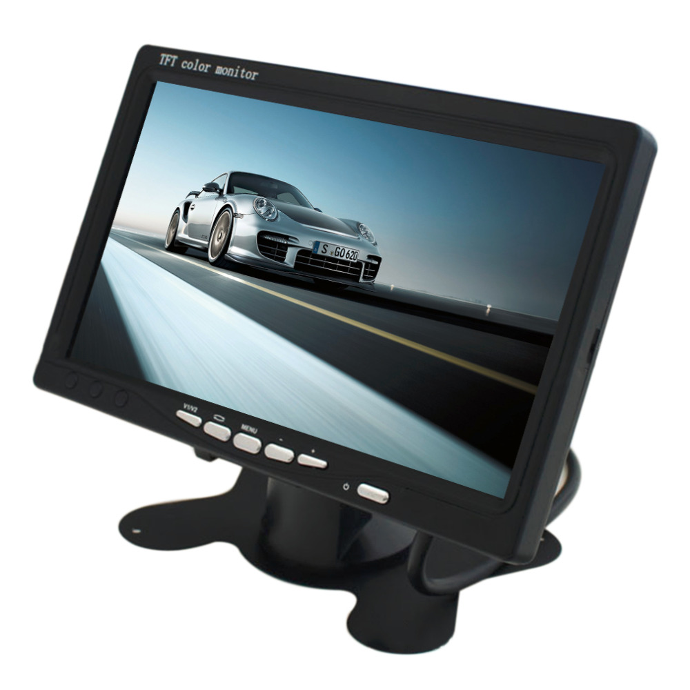 Universal DC 12V 7.5W Portable 7 TFT LCD Digital Color Screen Monitor for Car Rear View New Hot Selling