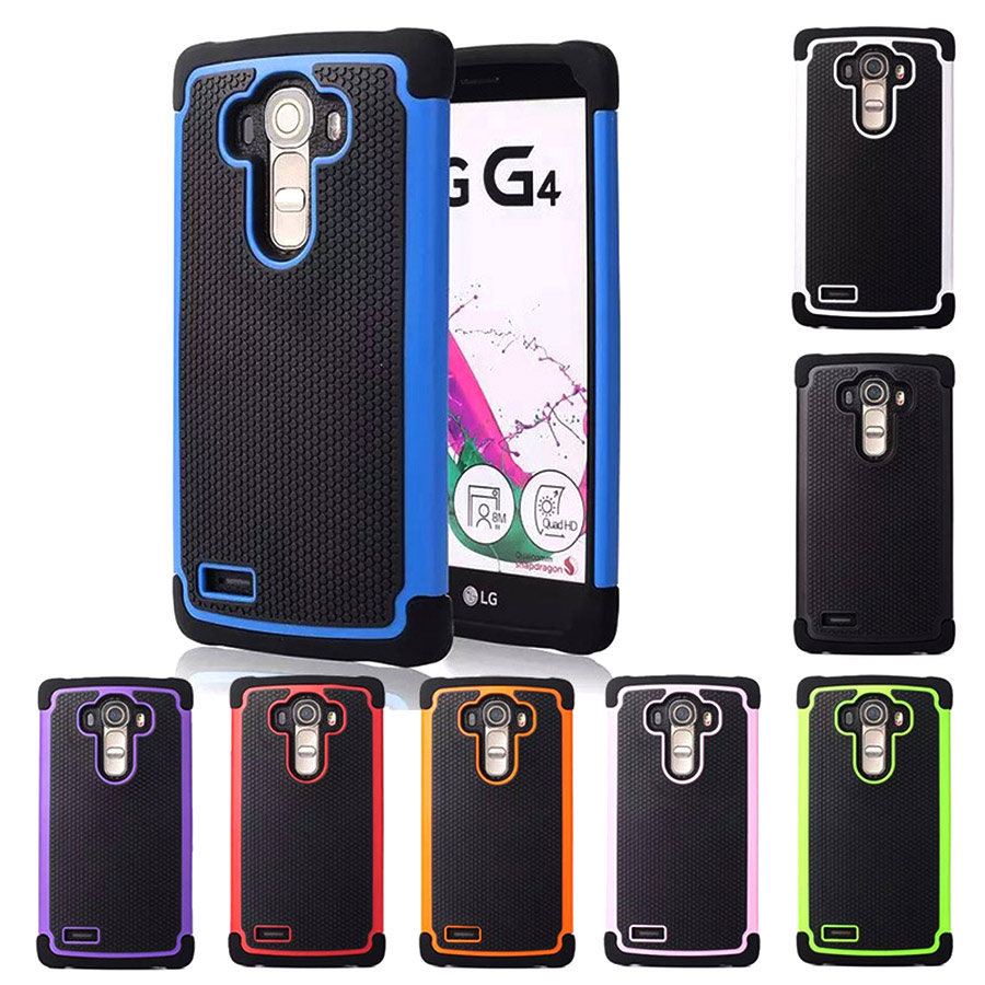 new style c71e8 dd69d US $4.99  For LG G4 Case Cover Armor 3D Hexagonal Texture PC TPU Cute Black  Blue Luxury Phone Case for LG G4 LGG4 Back Cover Silicone-in Half-wrapped  ...