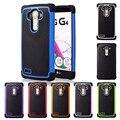 Para lg g4 armadura tampa do caso 3d textura hexagonal pc tpu bonito preto azul de luxo caixa do telefone para lg g4 lgg4 volta capa de silicone