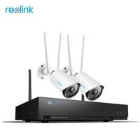 Reolink Surveillance Kit 4 Channel 2MP Wireless NVR W 2 Bullet WiFi IP Cameras Builtin 1TB