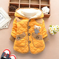 2017 new style winter thick cotton baby boy child children cute cartoon bear cotton cardigan jacket coats parkas
