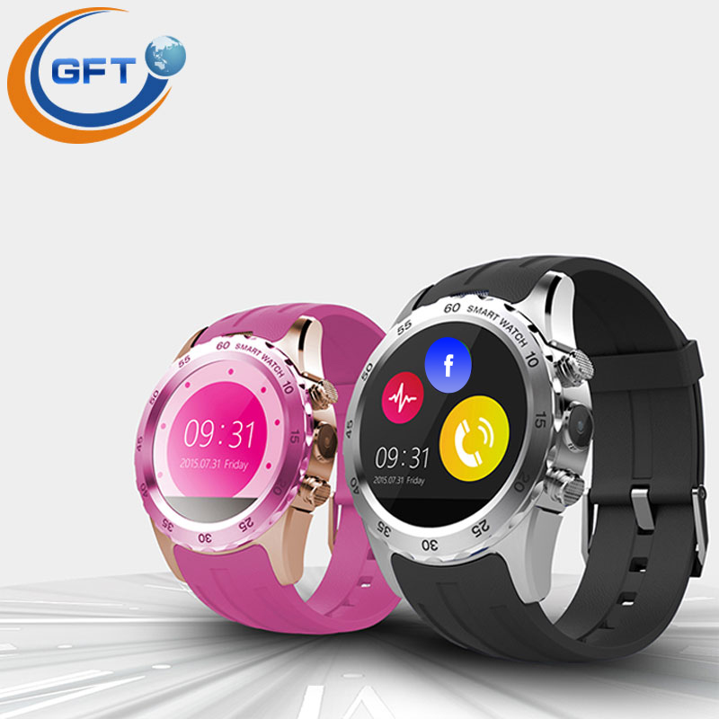 GFT KW08 font b smartwatch b font smart wtach sim with heart rate monitor and sleep