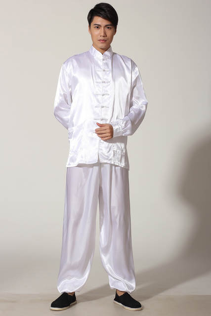 placeholder Novelty Gold Men s Satin Pajamas Set Chinese Style Button Pyjamas  Suit Soft Sleepwear Shirt Trousers Nightgown S M L 7bfa620b9