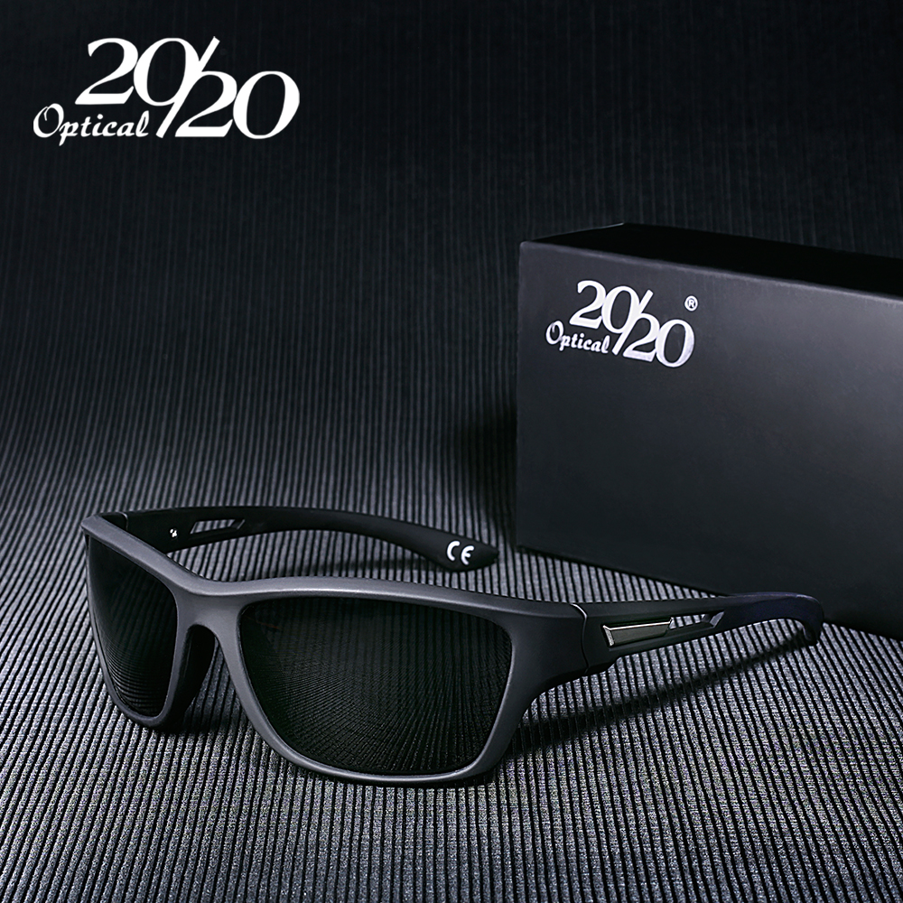 20/20 Brand Classic Men Sunglasses Polarized Square Male Glasses Shade Driving Eyewear Sun Glasses For Men Oculos Gafas PL64