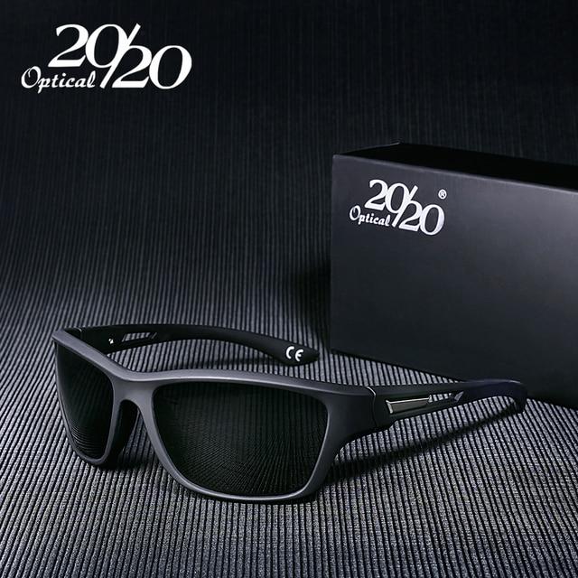 6aeaf3e2641d5 20 20 Marca Homens Clássicos Óculos Polarizados Masculino Quadrado Óculos  Sombra Óculos de Condução Óculos
