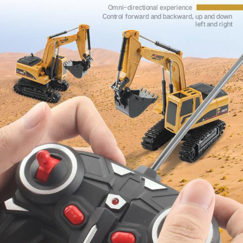 Image 4 - 1/24 Remote Control Simulation Model Excavator 5 Channel 2.4Ghz Excavators Crawler Car Toys for Kids Children-in RC Cars from Toys & Hobbies