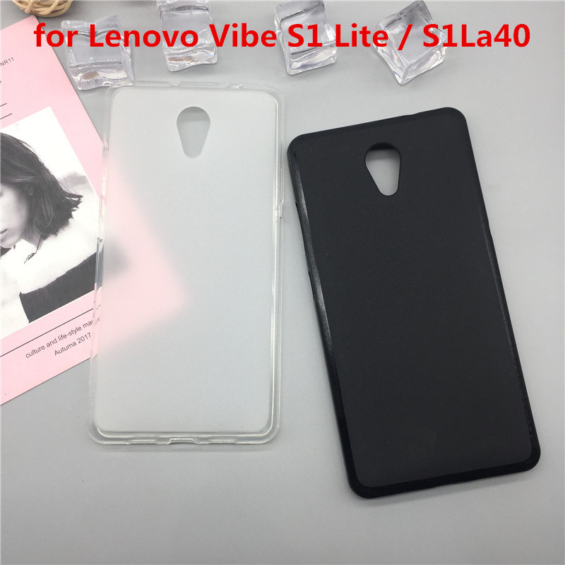 for Lenovo Vibe S1 Case Soft Silicone TPU Shockproof <font><b>Black</b></font> Mobile <font><b>Phone</b></font> Bags <font><b>pop</b></font> Cases Cover for Lenovo S1 image