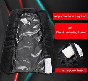 Image 3 - LOMAIYI USB isıtmalı yelek erkek kolsuz ceket erkek sıcak kendini ısıtma yelekler erkekler kış aşağı yastıklı yelek erkek siyah ceket AM356