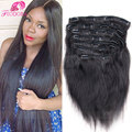 Sale Remy Virgin Brazilian Hair Clip In Extensions Straight Clip In 7A Brazilian Hair Extensions Clip In Human Hair Extensions