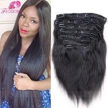 Sale Remy Virgin Brazilian Hair Clip In Extensions Straight Clip In 7A Brazilian Hair Extensions Clip In Human Hair Extensions