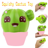 Interesting gifts for Kid children Cute Cactus Scented Squishy Charm Slow Rising Cartoon Doll Cream Scented Toy anti stress