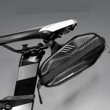 Wild Man Bike Bag under Seat Bicycle Saddle Waterproof EVA hard shell Road MTB Shockproof Cycling Pocket Accessories