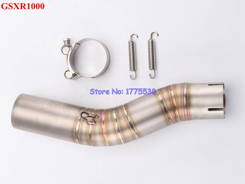 GSXR 1000 Link Pipe Stainless Steel font b Motorcycle b font Motorbike font b Exhaust b