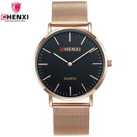 CHENXI Luxury Brand Rose Gold Men Casual Watches Minimalism Thin Dial Fashion Party Business Dress Male