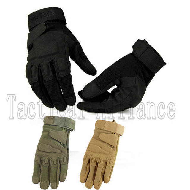 New Hunting Leather Working Police Security Full Finger Tactical Gloves For Airsoft Shooting Outdoor Motorcycle Protective Glove