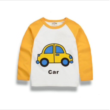2017 new spring and autumn boy long-sleeved T-shirt children's clothing children's baby girl cartoon bottoming shirt compassiona