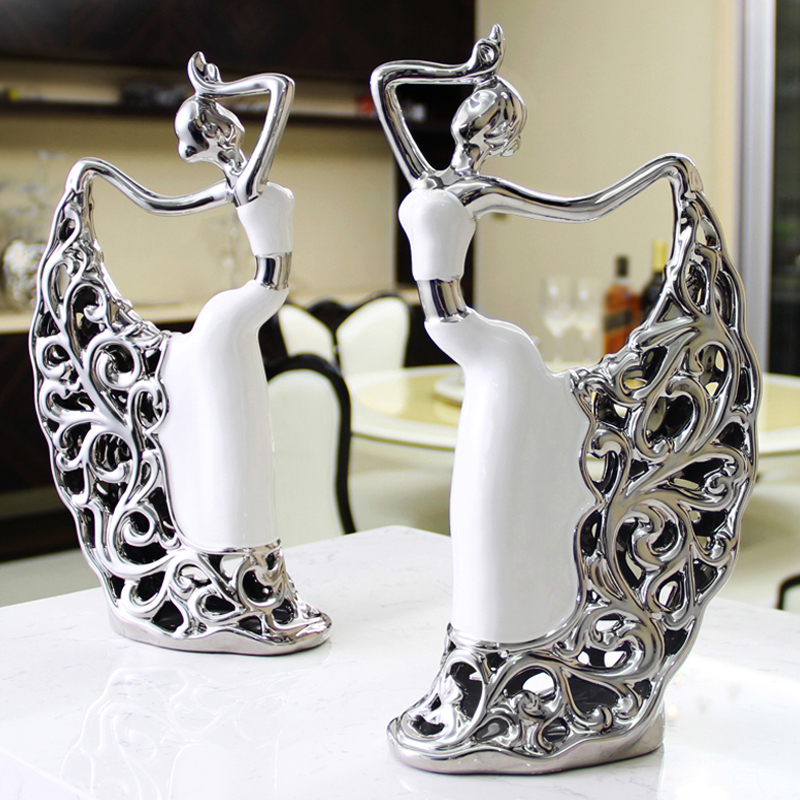 home decoration accessories room bedroom living room cabinet TV cabinet Home Furnishing European style Peacock Dancer