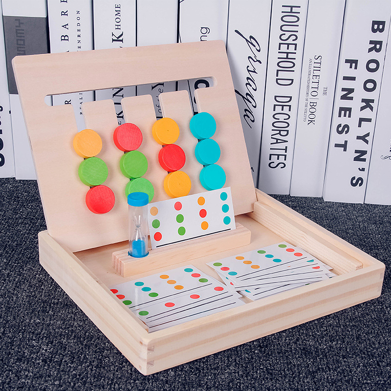 Montessori Education Wooden Toys Early Learning Toys Four Color Game Children Games Toys Preschool Training Learning Toys